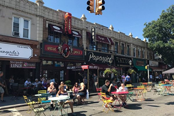 贝赛贝尔大道部分路段  周末用作户外用餐区