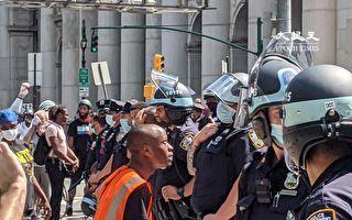 市警遭BLM抗议者攻击与挑衅  四高阶警官受伤