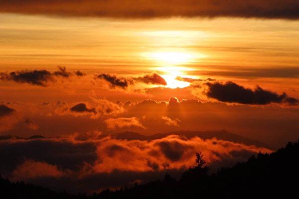 組圖:罕見美景 從阿里山拍雲瀑雲海彩霞滿天
