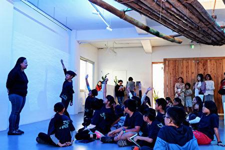 美學教育向下扎根,108學年度國小美感體驗課程試辦計畫,學童與老師互動熱烈。