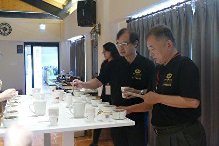 2020年日月潭精品咖啡评鉴7月2日于悠森境渡假村分成5组办理杯测。