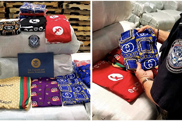 美海关查获1.6万件中国冒牌睡衣 市值550万