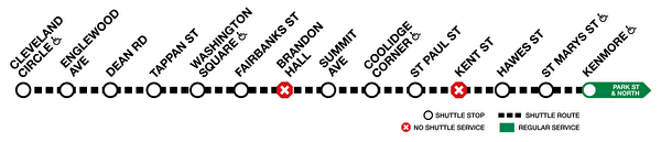 MBTA地鐵綠線C線7月停駛 改接駁巴士