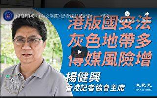 【珍言真語】楊健興:國安法嚴苛 傳媒風險增