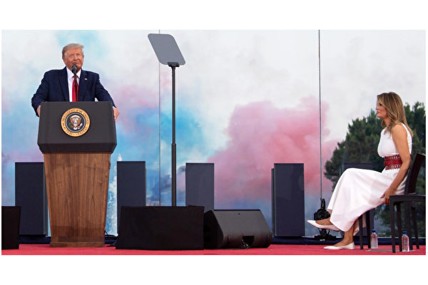 """【重播】川普在""""向美国致敬""""庆典上演讲"""