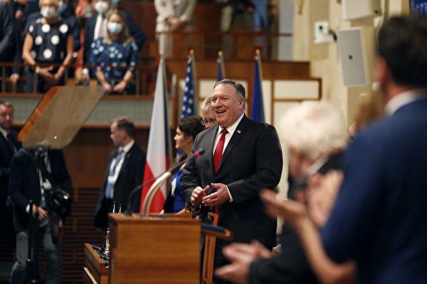 美國助捷克抗共 蓬佩奧支持捷參院議長訪台