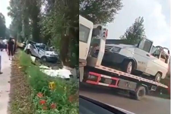 超载一倍 黑龙江小客车撞树 9死6伤