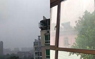 【視頻】北京降雨現9級大風 402航班取消
