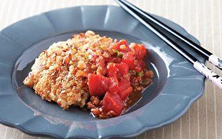 """一锅到底""""自制蕃茄酱""""佐坚果鸡胸肉"""