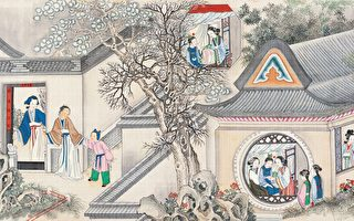 清 孫溫彩繪《紅樓夢》插圖。(公有領域)