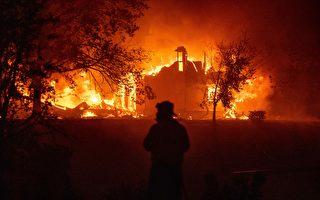加州野火快速延烧数千居民被迫逃离家园
