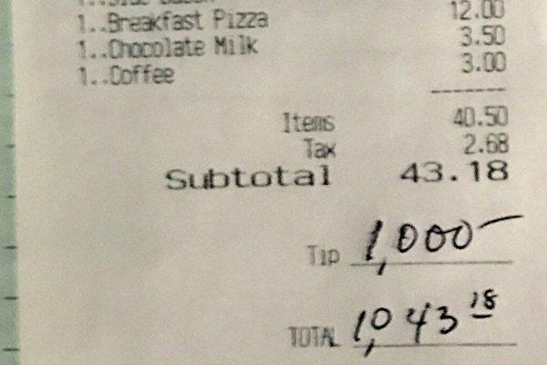 疫情下 顧客留千元小費 新澤西餐館員工流淚