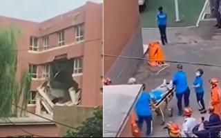 【视频】豆腐渣? 沈阳小学楼板坍塌致2伤
