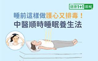 順著時辰來作息,能助你護心排毒,睡好又兼顧養生。(健康1+1/大紀元)