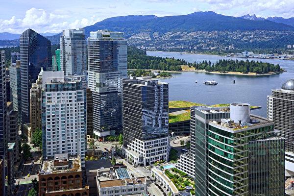 图:温哥华市中心2020年上半年的住宅价格为每平方英尺1,192元,位居全国最高水平。(Shutterstock)
