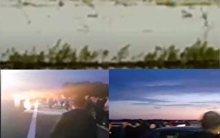 【视频】吉林长春一河堤决口 逾千村民受灾