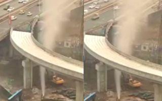 【视频】甘肃兰州中铁施工处发生天然气喷涌