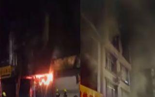 【视频】广西宜州区一楼房着火 致13伤