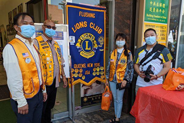 图片新闻 国际狮子会纽约20-K1区为法拉盛50位居民接种流感疫苗