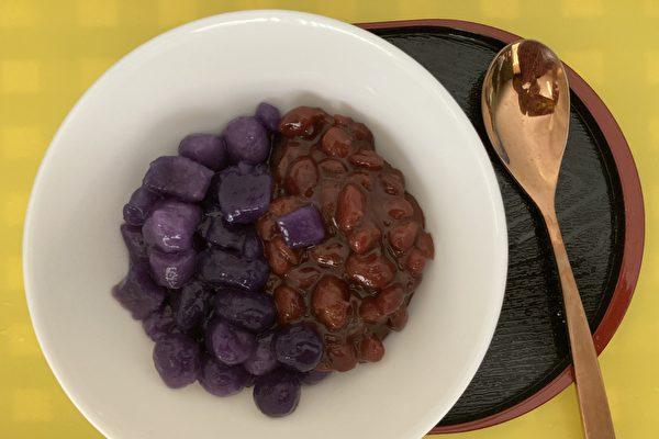 【防疫餐自己做】 薑汁芋圓紅豆湯