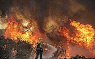 聖地亞哥縣山火燒近萬畝 州長宣布緊急狀態