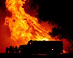 加州熊火燃烧迅猛 湾区出现灾难天气