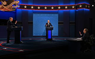 组图:美总统大选首场辩论 川普拜登激辩