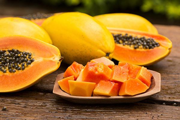 木瓜又稱「萬壽果」,富含抗氧化成分有保護心血管及預防癌症的效果。(Shutterstock)