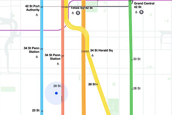 MTA推出「活地圖」 可實時追蹤列車運行