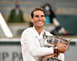 纳达尔横扫德约登顶法网 夺大满贯第20冠