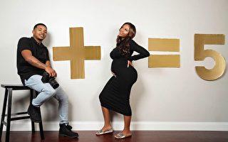不孕? 美年輕夫婦罕見「復孕」喜迎三胞胎
