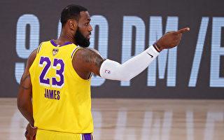 NBA双星合力灭热火 湖人3胜听牌