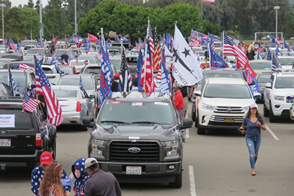 挺川热情高涨 洛杉矶川粉举办逾500辆汽车集会