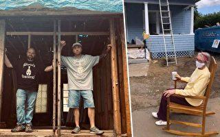 美国一位电工组团义务修建孤寡老人房屋