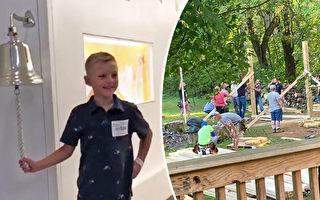 坚信神的力量 美9岁男孩战胜癌症 梦想成真