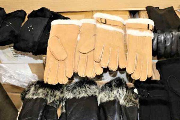 美海关扣留1900副中国手套 指产品涉及奴工