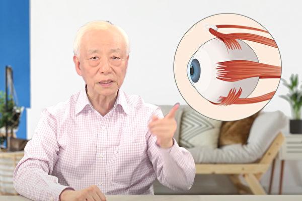 眼睛疲劳、涩痛、视力变差,教你帮眼睛伸一伸懒腰,让它不再疲劳。(胡乃文开讲、Shutterstock/大纪元制图)