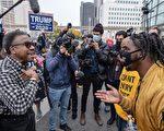 組圖:美國選情膠著 兩陣營支持者街頭抗議