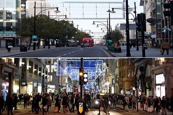"""组图:英国二次封锁 伦敦再现""""空城"""""""