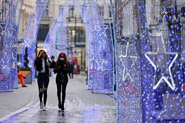 组图:圣诞节气氛渐浓厚 英国人购物谨慎