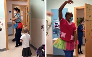 给5岁患癌童惊喜 两医生在病房里跳起芭蕾