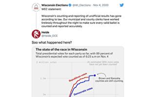 威斯康星州和密歇根州选票暴增的疑云