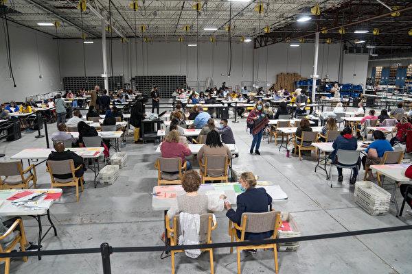 组图:乔治亚州重新计票 预计18日完成