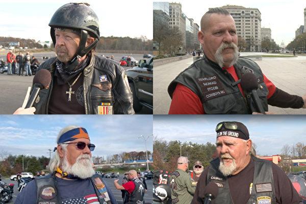 吁公正选举 摩托车队华府骑行挺川普