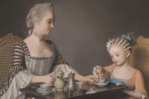 利奥塔尔, 粉彩画, 《拉维尼家早餐》, 早餐, 美术馆