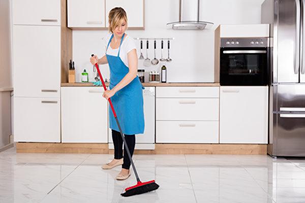 廚房, 清潔, 地板