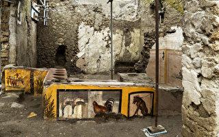 龐貝古城發現2000年前街頭小吃店和壁畫