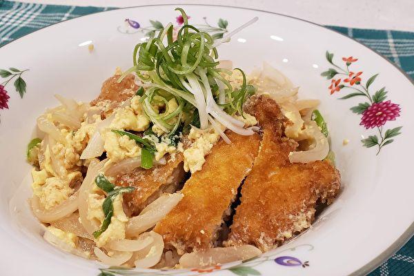 【梁厨美食】炸鸡排丼饭 好吃关键在蛋汁淋酱