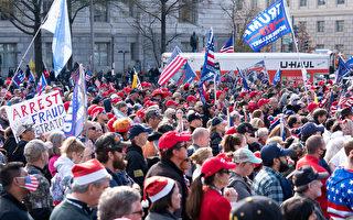組圖:士氣高漲 美國民眾華府集會支持川普