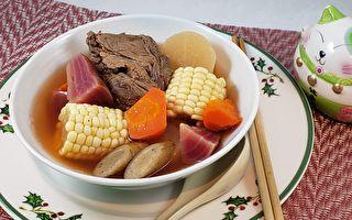 【梁廚美食】紅菜頭栗米牛骨湯~港式煲湯渡冷冬